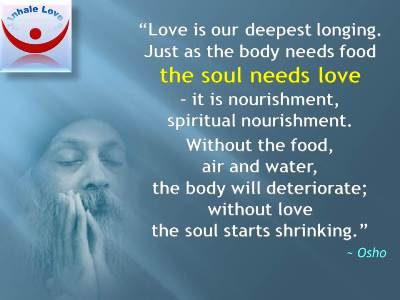 Love is Food for the Soul - Osho quotes